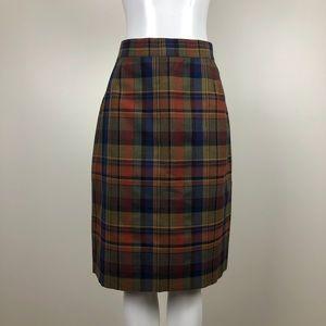 Vintage Multicoloured Plaid Skirt